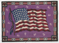 B6 Tobacco Flannel Insert, National Flags, 1910 (9X12 Inch), United States