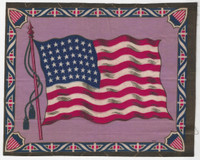 B4 Tobacco Flannel Insert, National Flags, 1910 (10.5X9.5 Inch), United States