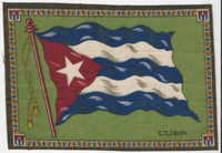 B4 Tobacco Flannel Insert, National Flags, 1910 (10.5X7.5 Inch), Cuba