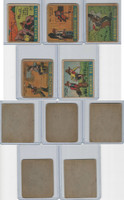 R28 Strip Card, Cartoon Adventures, 1936, Lot of 5 Broncho Bill