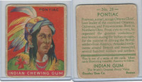 R73 Goudey, Indian Gum, Series 192, 1933, #28 Pontiac (B)