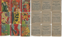 R99 Strip Card, Nightmare of Warfare, 1938, Lot of 9, 934//948