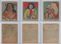 R129 Strip Card, American History, 1930's, #300 Red Bear, 301 Geronimo, 303