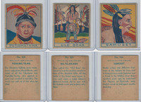 R129 Strip Card, American History, 1930's, #304, 305, 306 Indians