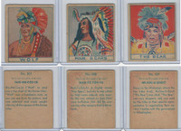 R129 Strip Card, American History, 1930's, #307, 308, 309 Indians