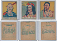 R129 Strip Card, American History, 1930's, #310, 311, 312 Indians, Black Hawk