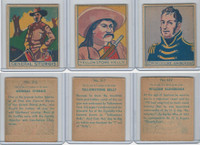 R129 Strip Card, American History, 1930's, #316, 317, 322 Sturgis, Bainbridge