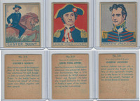 R129 Strip Card, American History, 1930's, #318, 319, 320 Jones, Jackson