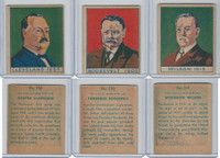 R129 Strip Card, American History, 1930's, #328, 330, 331 Presidents, Roosevelt