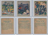 R129 Strip Card, American History, 1930's, #335, 336, 337 Washington, Gold