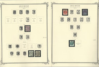 Great Britain Stamp Collection 1840-1948 on 22 Scott Specialty Pages, JFZ