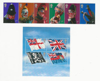 Great Britain, Postage Stamp, #1990a, 1999 Mint NH, 2001 Toys, Flags, JFZ