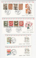 Korea, Postage Stamp, #1660a, 1668b, 1670a-71a Used Booklet, 1991, JFZ