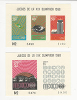 Mexico, Postage Stamp, #998a, 1008a Mint LH, 1968 Olympics, JFZ