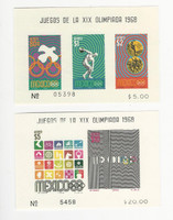 Mexico, Postage Stamp, #C342a, C344a, Mint LH, 1968 Olympics, JFZ