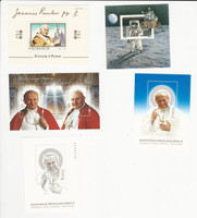 Poland, Postage Stamp, #2575a, 2910a, 4112, 4114, 4115 Mint NH, Pope Paul, JFZ