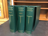 Lot of 3 Scott Specialty Binders & Dustcases, Three-Ring, Germany