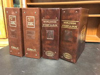 Lot of 4 Harris Stamp Album Binders, Two-Post, 4 Inch (Lot A)