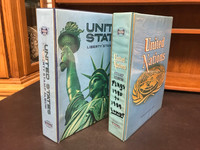 Lot of 2 Harris United States, UN Album Binders, Two-Post, 2 Inch