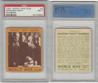 R174 Goudey, World War Gum, 1933, #3 Drawing Draft Numbers, PSA 7 NM