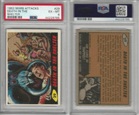 1962 Bubbles Inc., Mars Attacks, #29 Death in the Shelter, PSA 6 EXMT