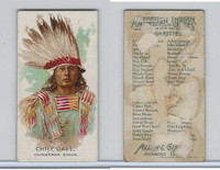 N2 Allen & Ginter, Celebrated American Indian Chiefs, 1888, Chief Gall (B)