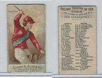 N22 Allen & Ginter, Racing Colors of the World, 1888, Dwyer Bros. (B)