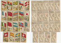 E15 American Caramel, Flag Caramels, 1910, Lot of 19 Different