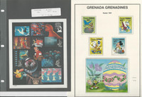 Grenada Stamp Collection, Mint NH Walt Disney Sets on 24 Pages, DKZ