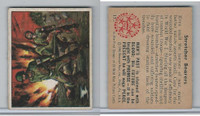 1950 Bowman, Wild Man, #17 Stretcher Bearers, World War II (B)