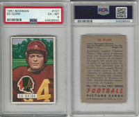 1951 Bowman Football, #107 Ed Quirk, PSA 6 EXMT