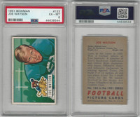 1951 Bowman Football, #133 Joe Watson, Lions, PSA 6 EXMT