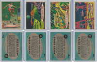 1957 Topps, Space Cards, Lot of Four, #59, 60, 61, 62 Moon, Lunar, Train