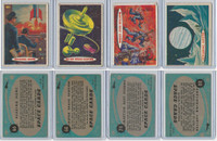 1957 Topps, Space Cards, Lot of Four, #66, 68, 74, 80 Jupiter, Mars