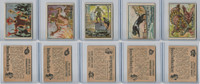 1950 Topps, Bring 'Em Back Alive, Africa, Animals Lot of Five, 42, 48, 58, 61, 63