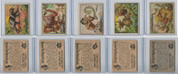 1950 Topps, Bring 'Em Back Alive, Africa, Animals Lot of Five, 82, 92, 94, 68, 100