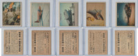1950 Topps, Freedoms War, Lot of Five, 114, 119, 120, 123, 124 Airplanes