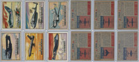 1952 Topps, Wings, Lot of 6 Airplanes, 2, 3, 6, 7, 9, 11