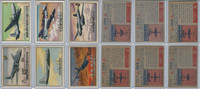 1952 Topps, Wings, Lot of 6 Airplanes, 32, 35, 38, 41, 42, 49