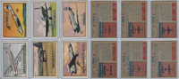 1952 Topps, Wings, Lot of 6 Airplanes, 50, 52, 54, 58, 60, 64