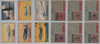 1952 Topps, Wings, Lot of 6 Airplanes, 98, 101, 103, 106, 107, 108