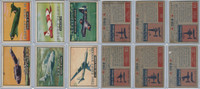 1952 Topps, Wings, Lot of 6 Airplanes, 117, 118, 119, 120, 121, 123
