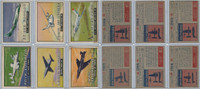 1952 Topps, Wings, Lot of 6 Airplanes, 124, 127, 128, 129, 130, 131
