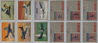 1952 Topps, Wings, Lot of 6 Airplanes, 132, 134, 136, 137, 138, 140