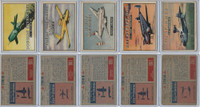 1952 Topps, Wings, Lot of 6 Airplanes, 185, 186, 188, 190, 192
