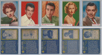 1953 Topps, Who-Z-At Star?, Lot 28, 31, 34, 36, 39 Bergen, Gable, Montalban