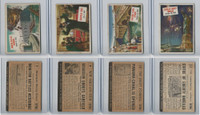 1954 Topps, Scoop, Lot #7, 9, 10, 11 Monitor, Garfield, Panama, Statue Liberty