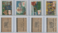 1954 Topps, Scoop, Lot #59, 60, 61, 62 Yalta, Berlin, Niagara Falls