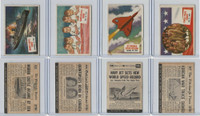 1954 Topps, Scoop, Lot #63, 64, 66, 67 Moro Castle, Korea, Airplane Record