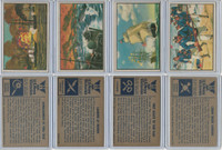 1954 Bowman, US Navy Victories, Lot 4, 9, 10, 15, Vera Cruz, Inchon, Flag, Cuba